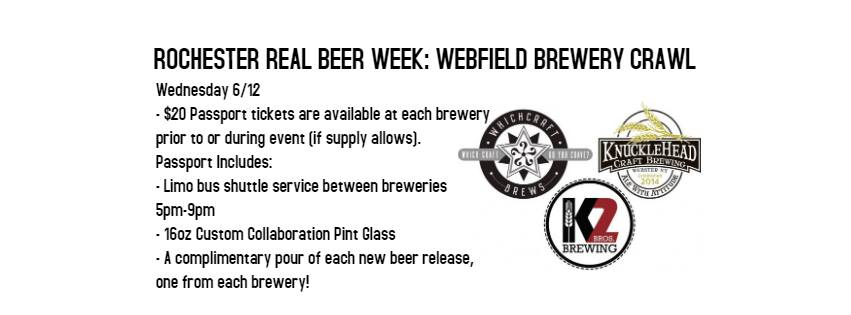 Rochester Real Beer Week - Webfield Beer Crawl