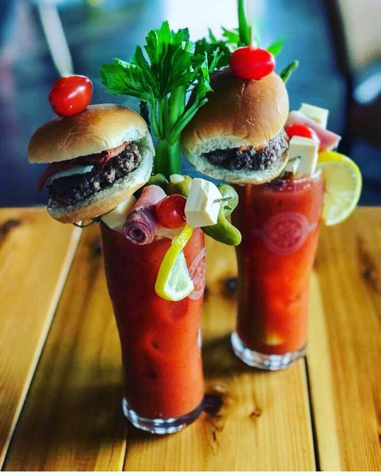 Blood Mary with Cheeseburgers