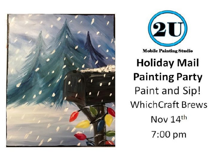 """2U Painting Party """"Holiday Mail"""""""