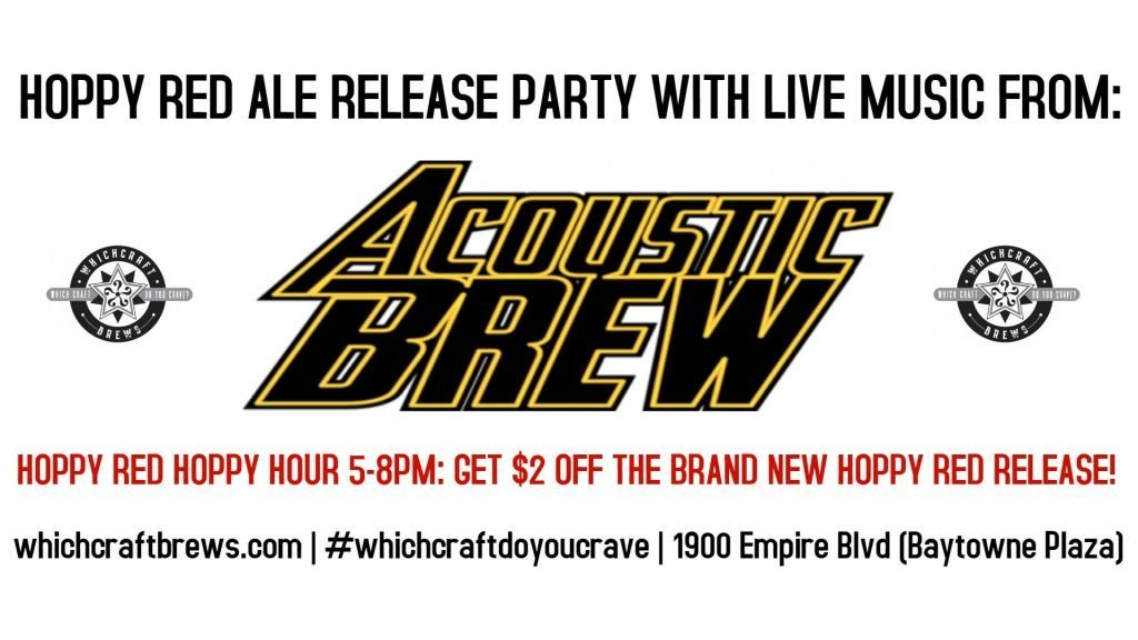 Acoustic Brew Hoppy Red Release Party