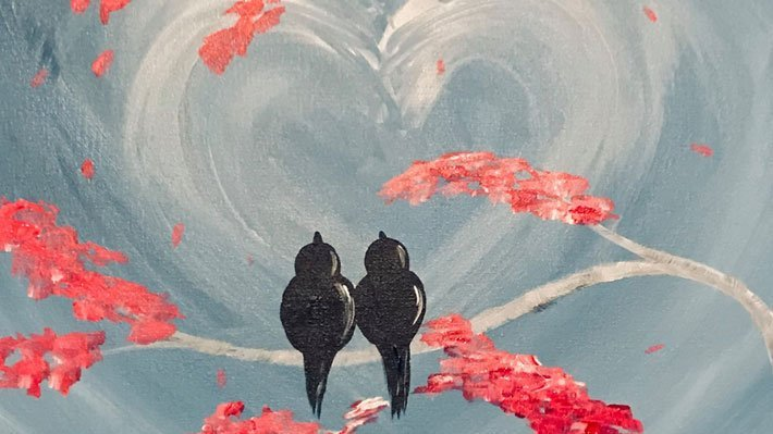 "2U Painting Party ""Lovebirds"""